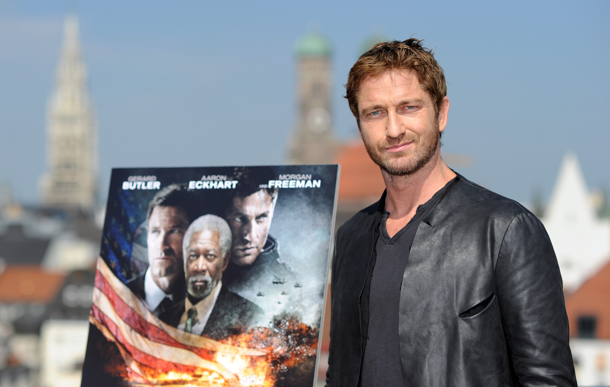 Gerard Butler poses during the 'Olympus Has Fallen - Die Welt in Gefahr' photocall at Hotel Mandarin Oriental on June 7, 2013 in Munich, Germany. (Photo by Hannes Magerstaedt/Getty Images