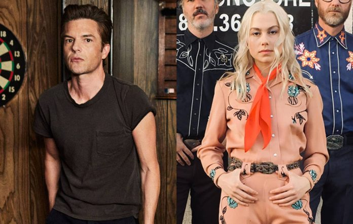 The Killers' Brandon Flowers (shot by Danny Clinch) and Phoebe Bridgers (shot by Chloe Brewer)