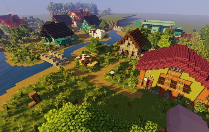 Minecraft Stardew Valley Pelican Town build