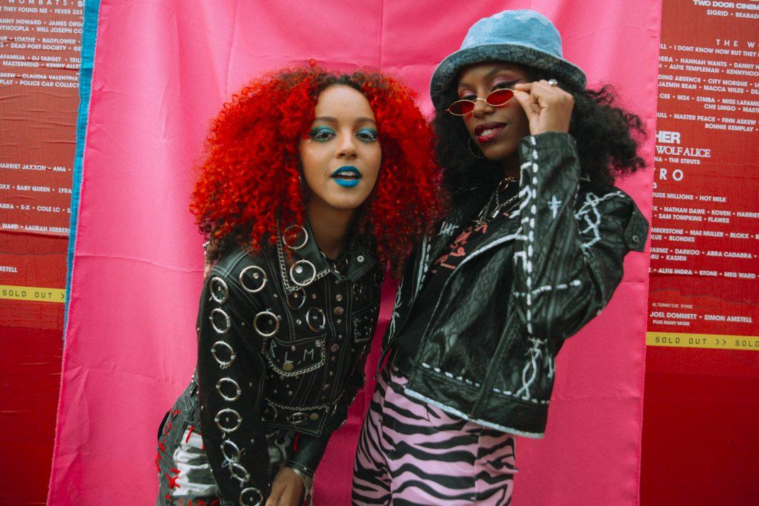 Nova Twins backstage at Reading 2021. Credit: Emma Viola Lilja for NME