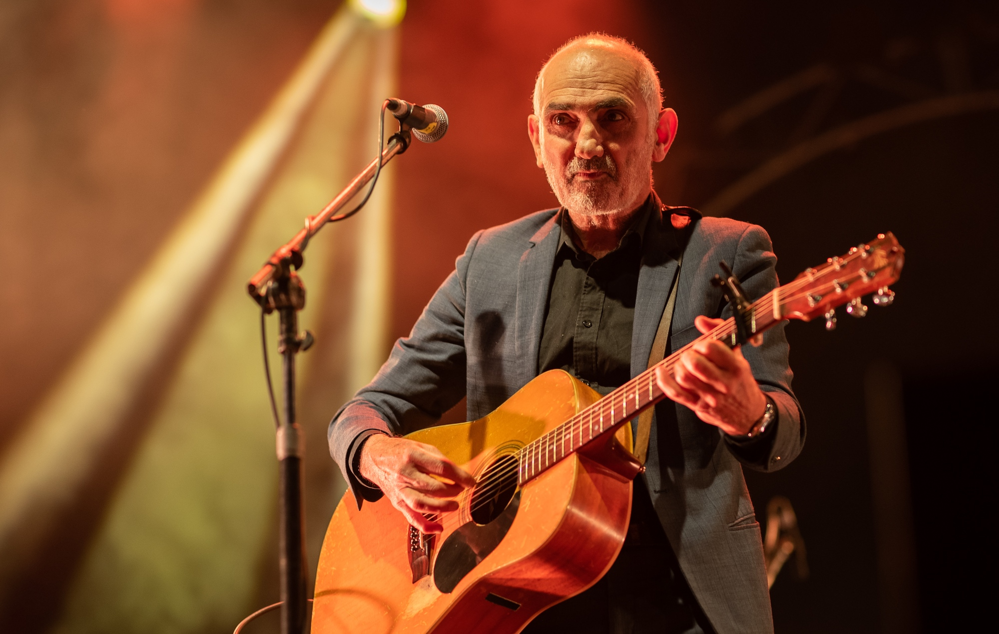 Paul Kelly performs at the Big Red Bash 2021