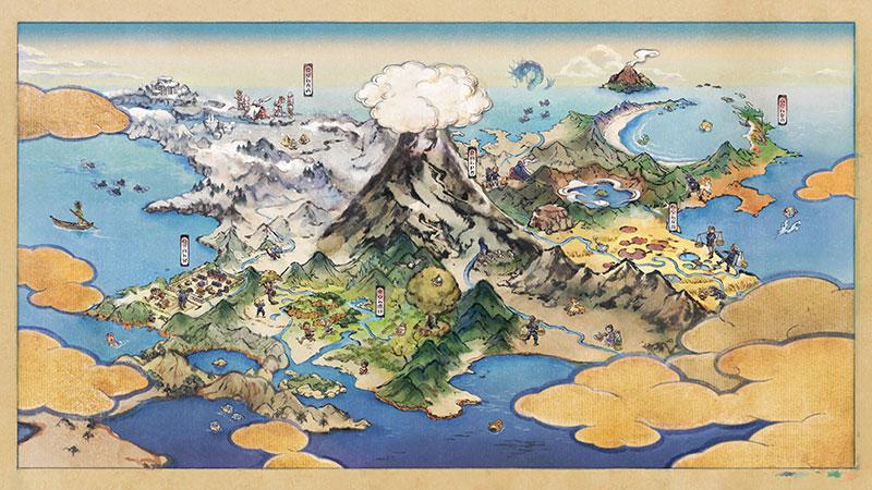 Pokemon Legends: Arceus Hisui region