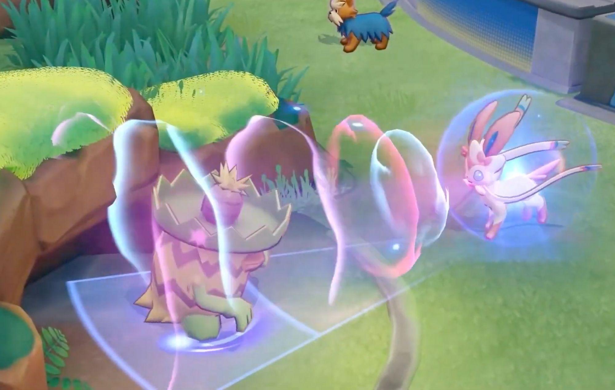 Sylveon in Pokémon Unite