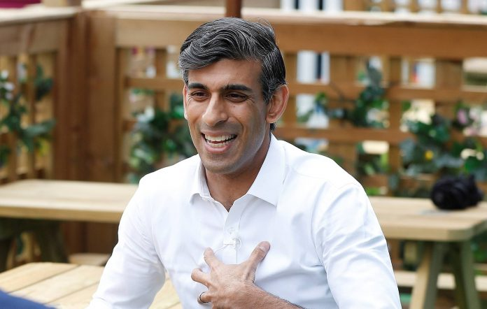 Chancellor Rishi Sunak at the London Wonderground comedy and music festival venue on August 5, 2021 in London, England. (Photo by Peter Nicholls - WPA Pool/Getty Images)