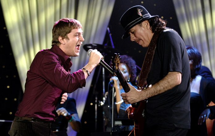 Rob Thomas and Carlos Santana