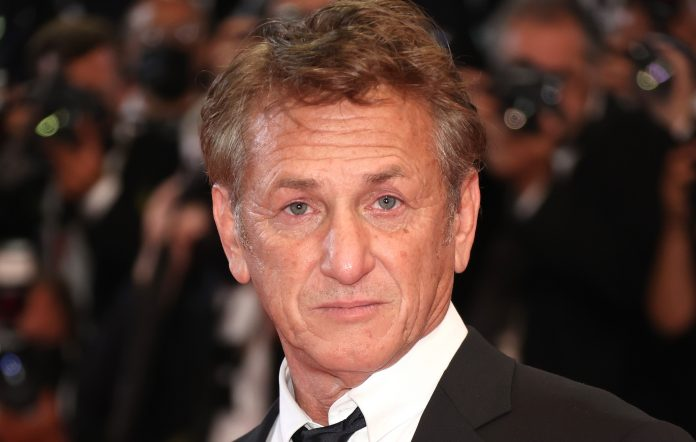 Sean Penn attends the 'Flag Day' premiere at Cannes