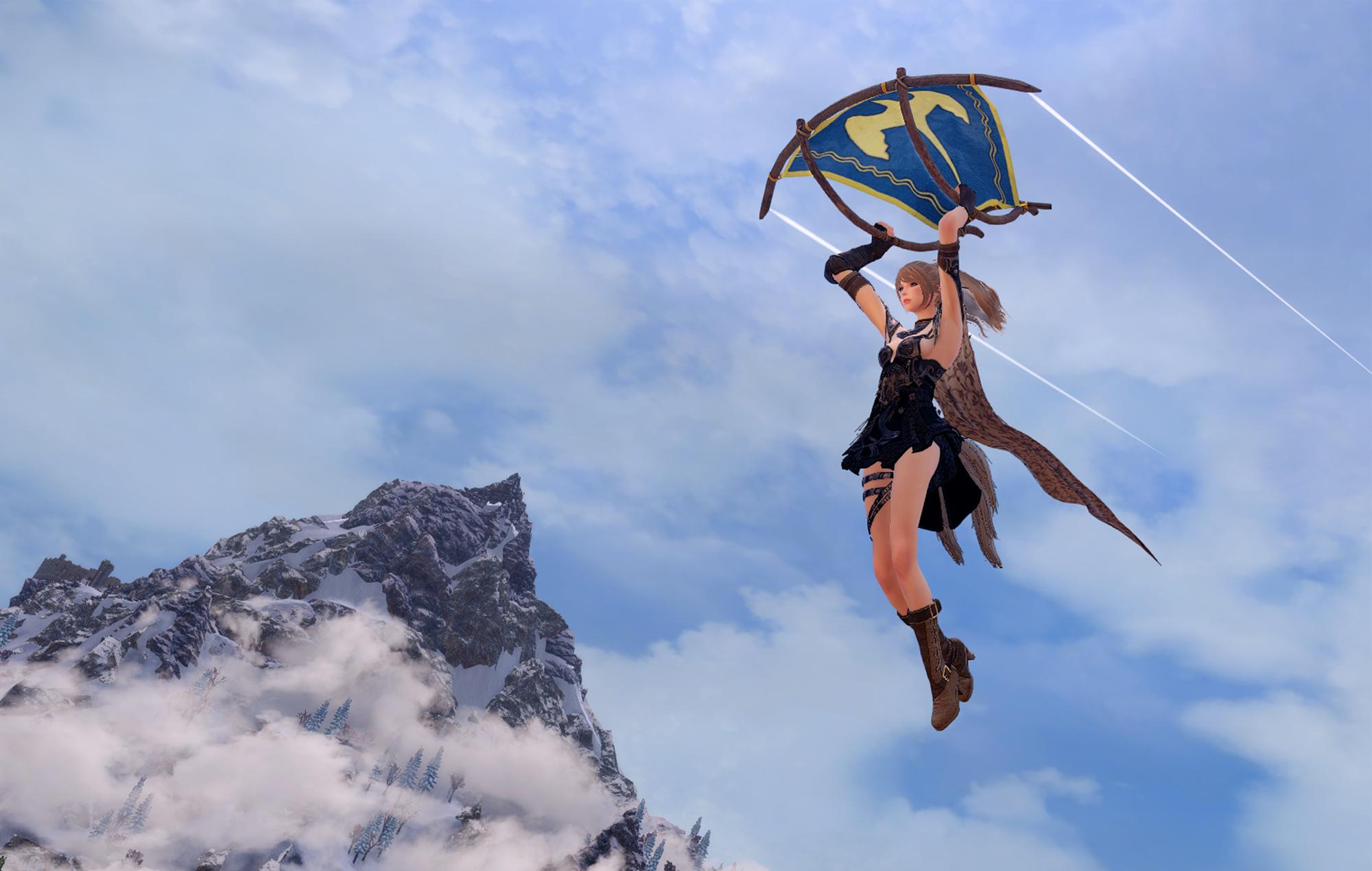 Skyrim/Breath of the Wild paraglider mod