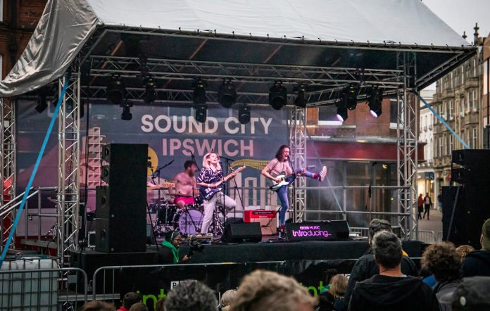Swimsuit Competition performing at Sound City Ipswich in 2019. Credit: Phillip Charles