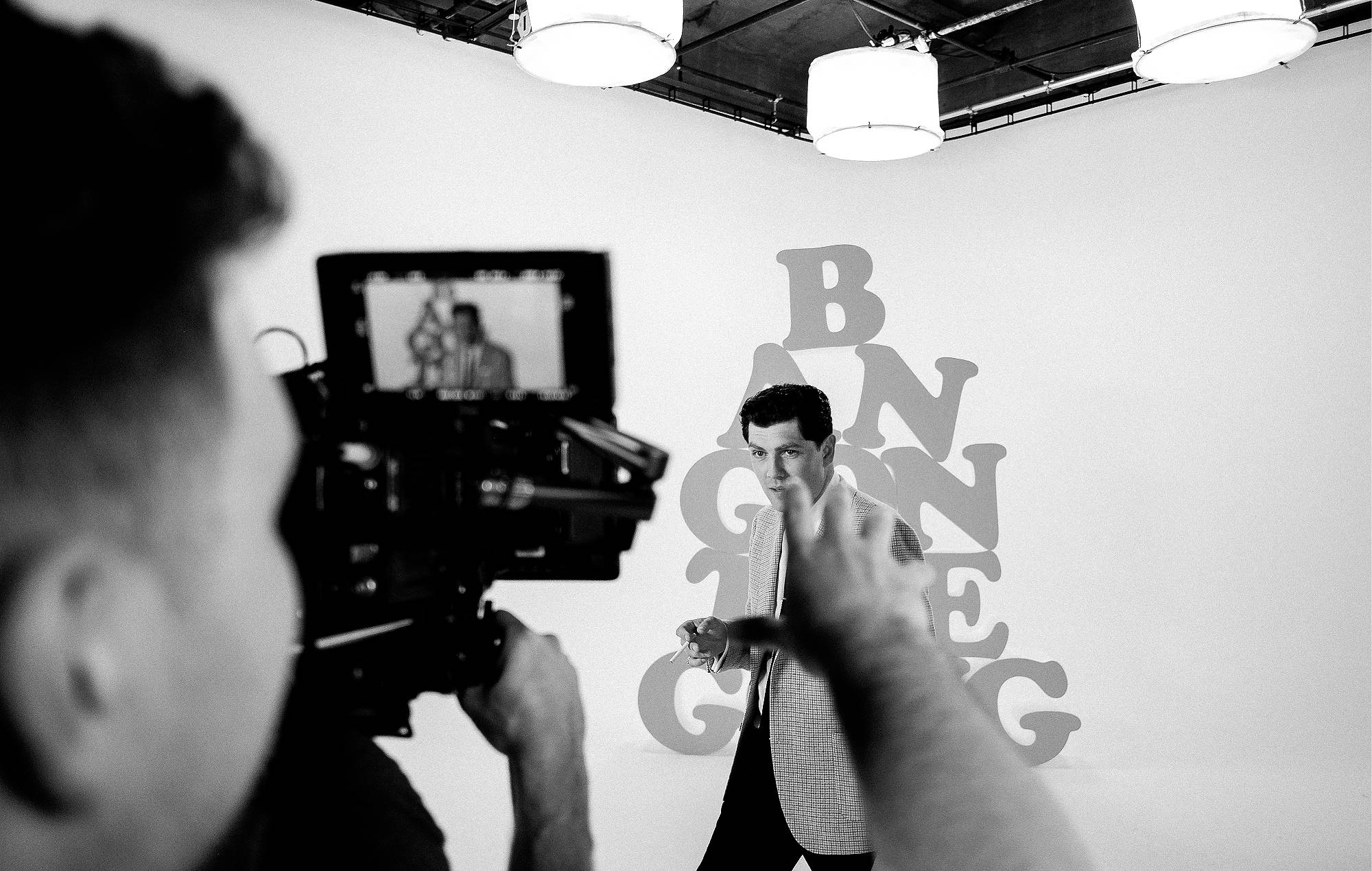 Twin Atlantic's 'Bang On The Gong' video – behdind the scenes. Credit: Craig Neale