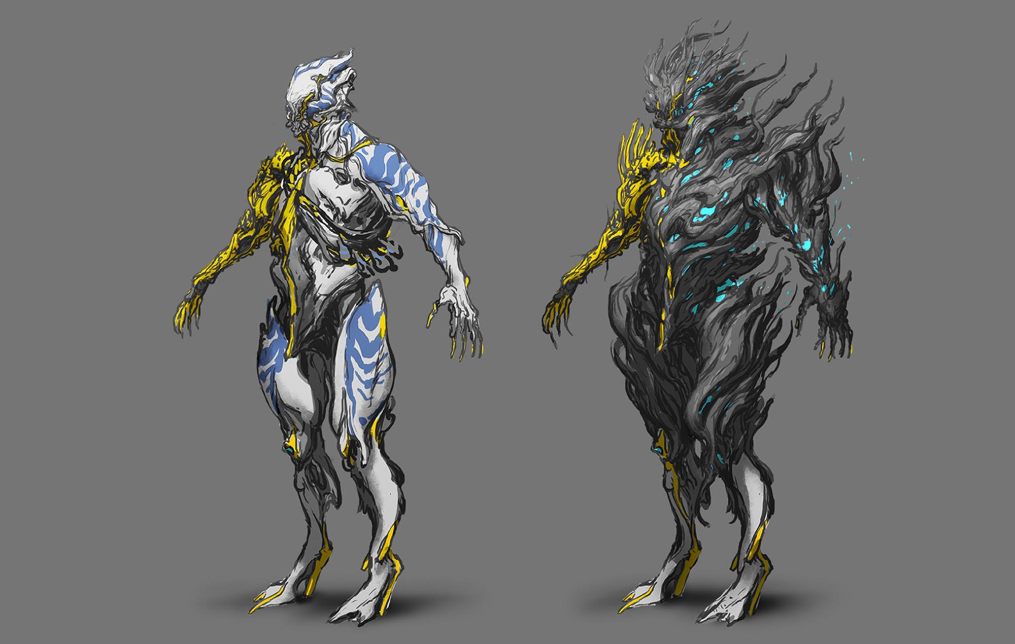 Warframe nidus prime concept art