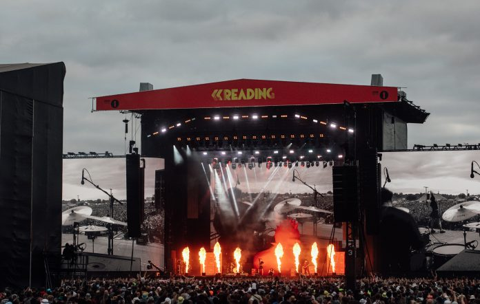 The stage for Yungblud at Reading 2021. Credit: Andy Ford for NME