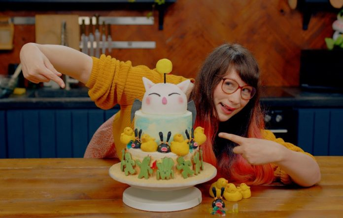 Final Fantasy XIV anniversary birthday cake