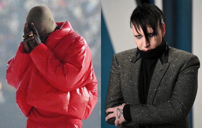 Marilyn Manson appears at Kanye West Donda Chicago album playback event