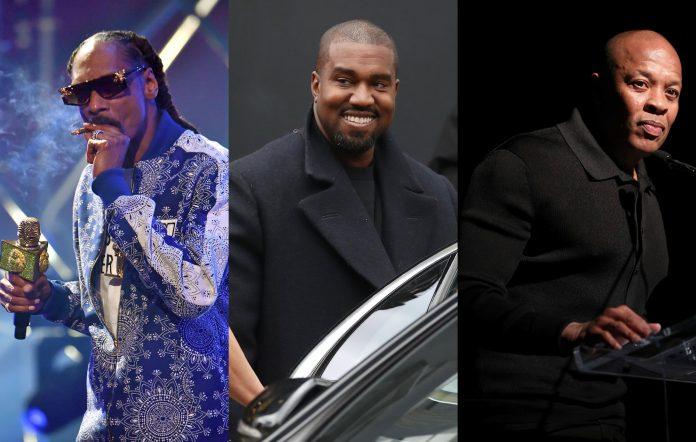 Snoop Dogg, Kanye West, Dr Dre