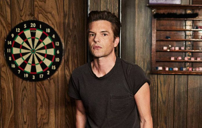 The Killers' Brandon Flowers, shot by Danny Clinch and provided to NME