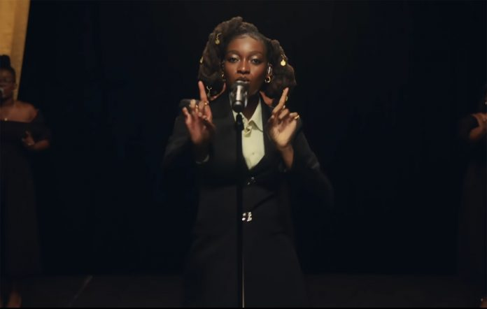 Little Simz performing on 'The Tonight Show Starring Jimmy Fallon'.