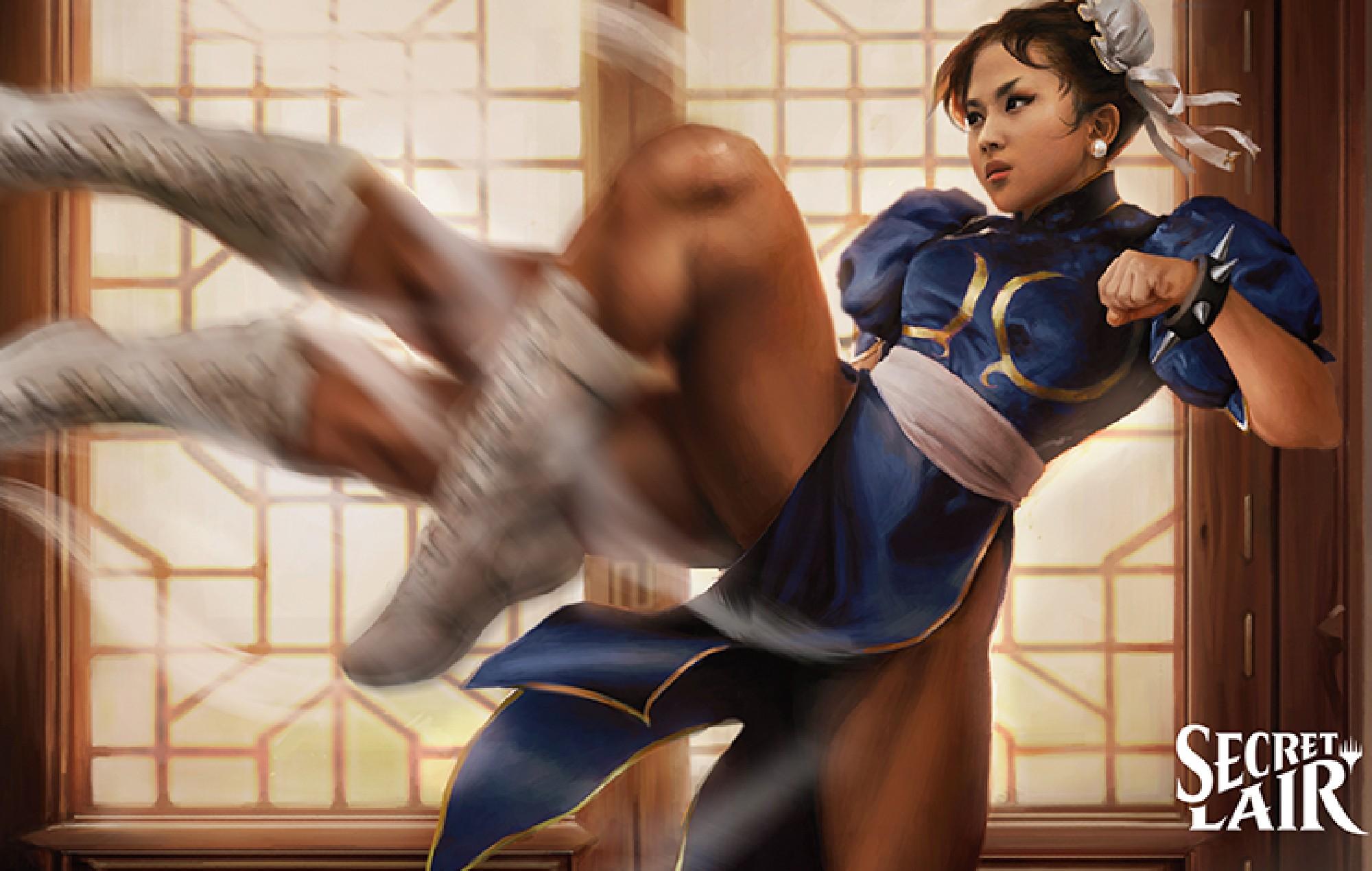 Street Fighter's Chun Li in Magic: The Gathering