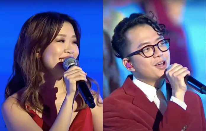 Linying and Sezairi perform at this year's National Day Parade