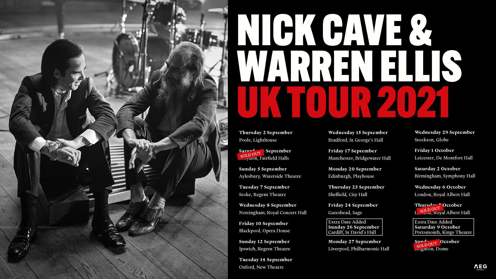 Nick Cave and Warren Ellis UK tour, 2021