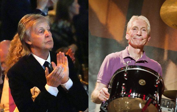 Paul McCartney has paid tribute to Charlie Watts