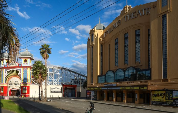 The Palais theatre and Luna Park in St Kilda.