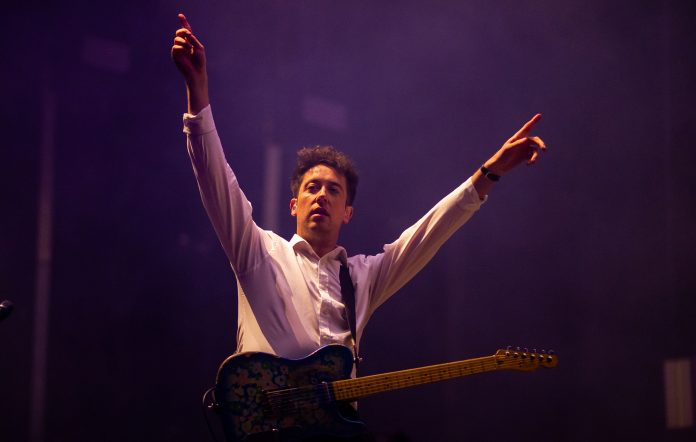 Murph from The Wombats performing at Splendour in the Grass 2018