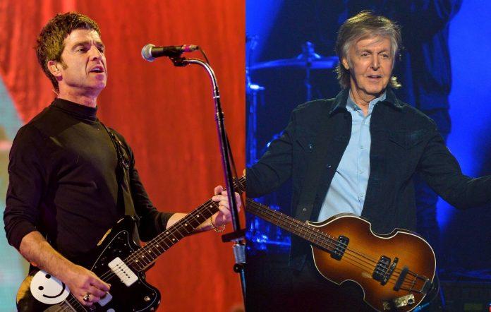 Noel Gallagher and Paul McCartney