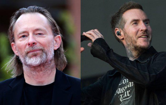 Thom Yorke and Robert Del Naja