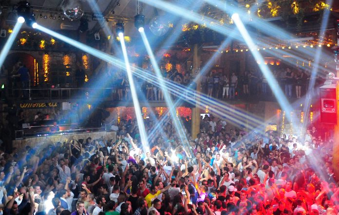 Amnesia nightclub in Ibiza, Spain