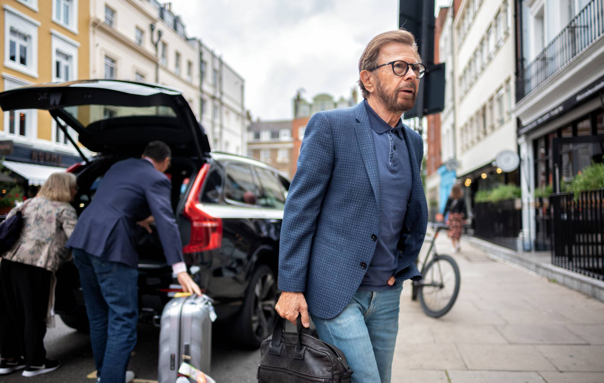 ABBA arrive in London for the announcement of new album and concert experience 'ABBA: VOYAGE'. Credit: Alan-Schaller