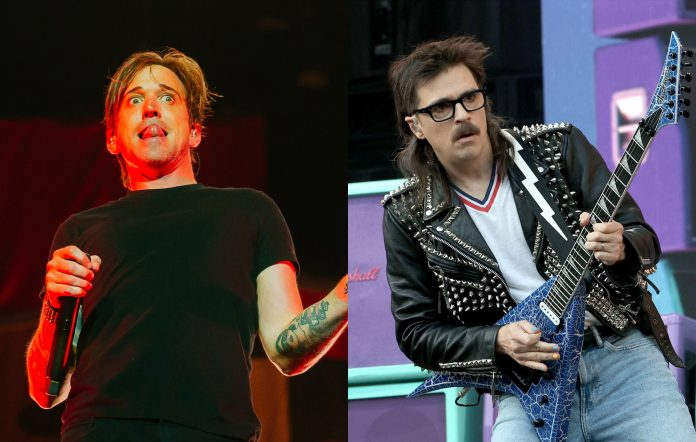 Benjamin Kowalewicz of Billy Talent + Rivers Cuomo of Weezer. Credits: Thomas Niedermueller/Redferns + Kevin Winter/Getty Images