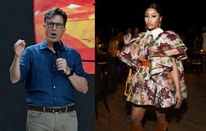 Stephen Colbert and Nicki Minaj