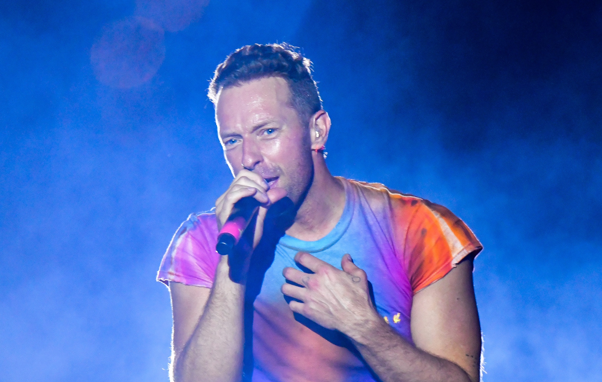 Coldplay's Chris Martin performs in New York