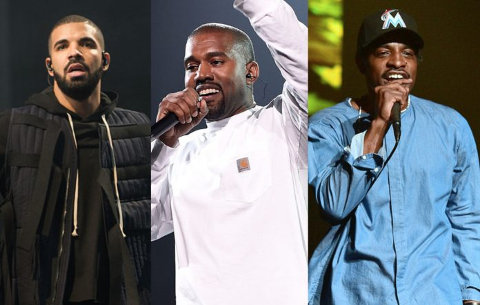 Drake, Kanye West and Andre 3000