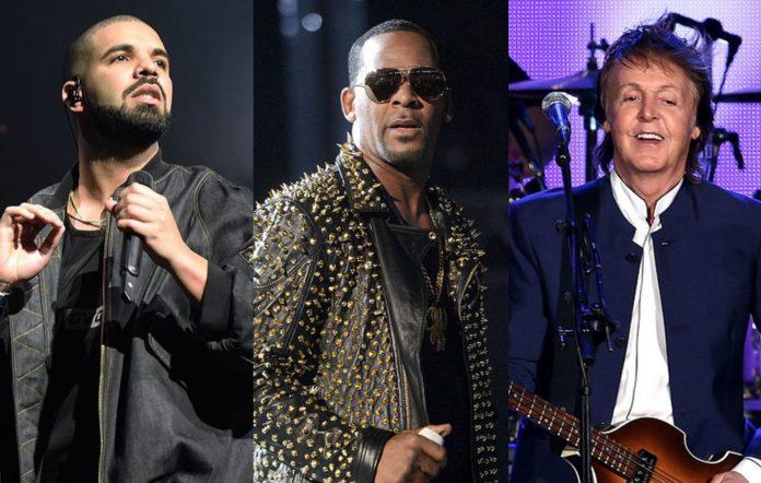 Drake, R. Kelly and Paul McCartney