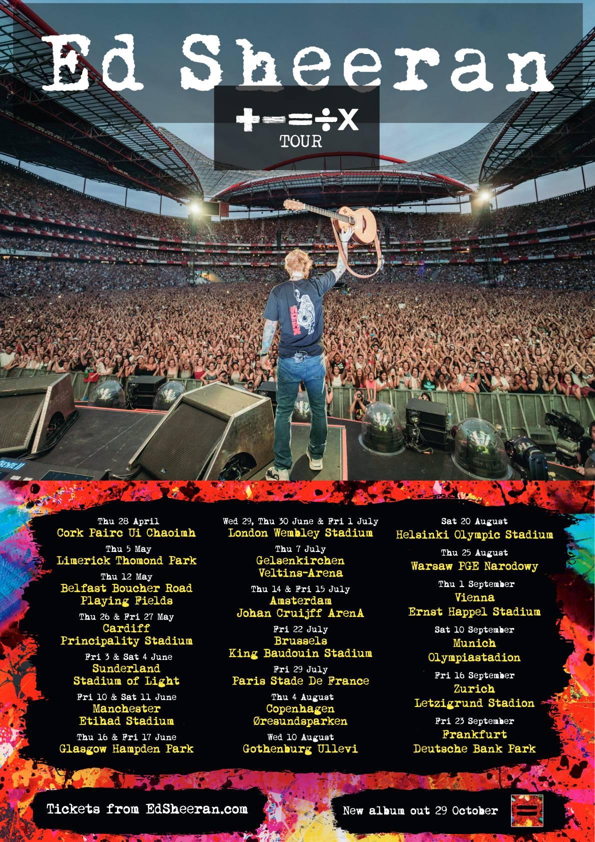 Ed Sheeran's '+ - = ÷ x Tour'