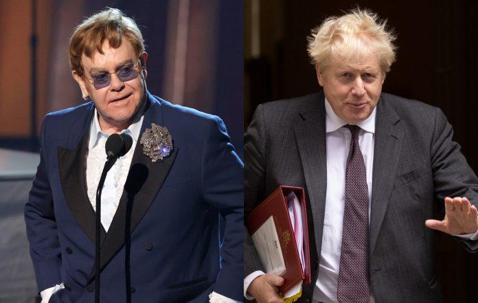 Elton John claims Boris Johnson is ignoring his requests to meet about touring visas