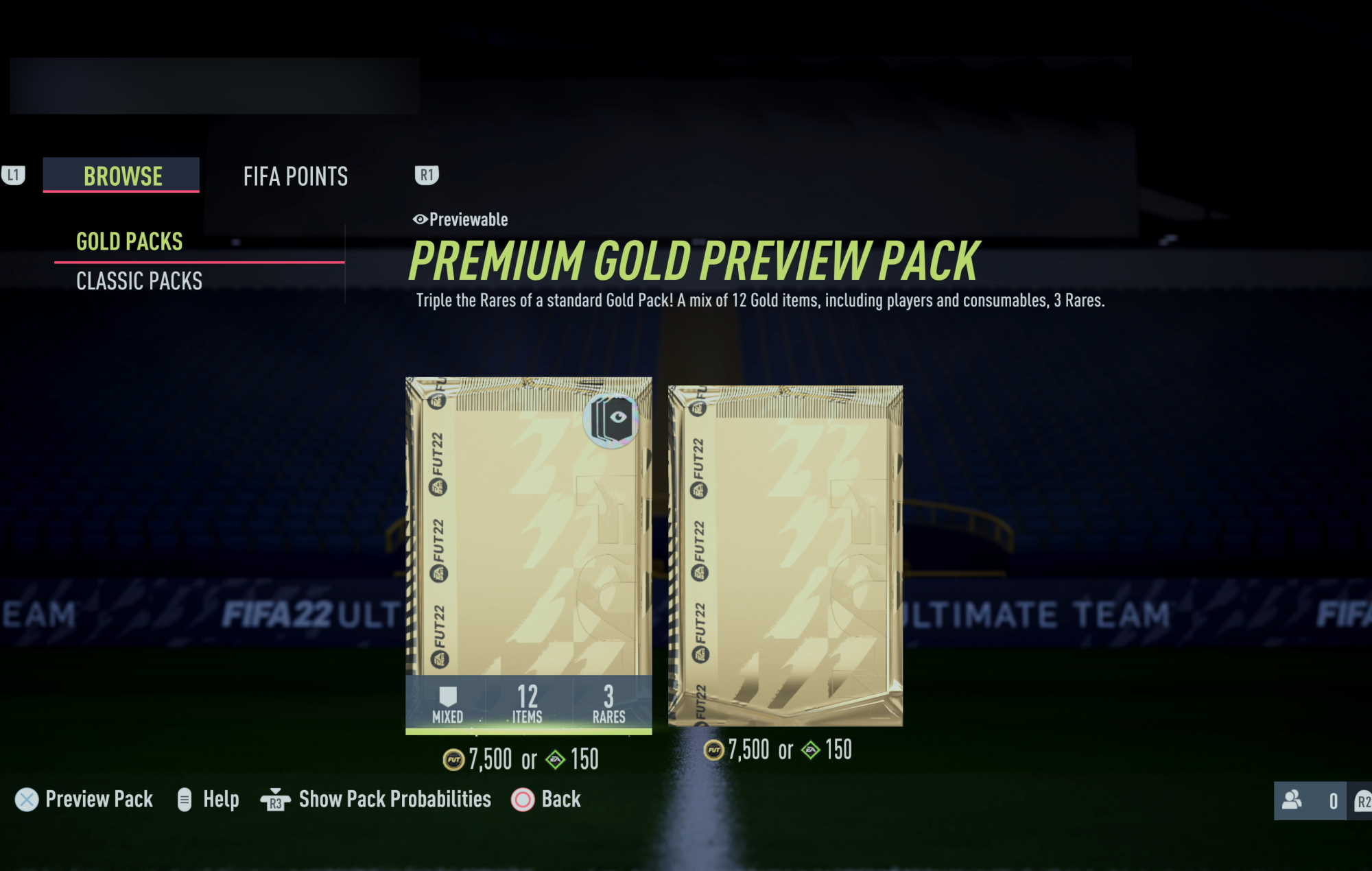 FIFA 22 - fut preview pack