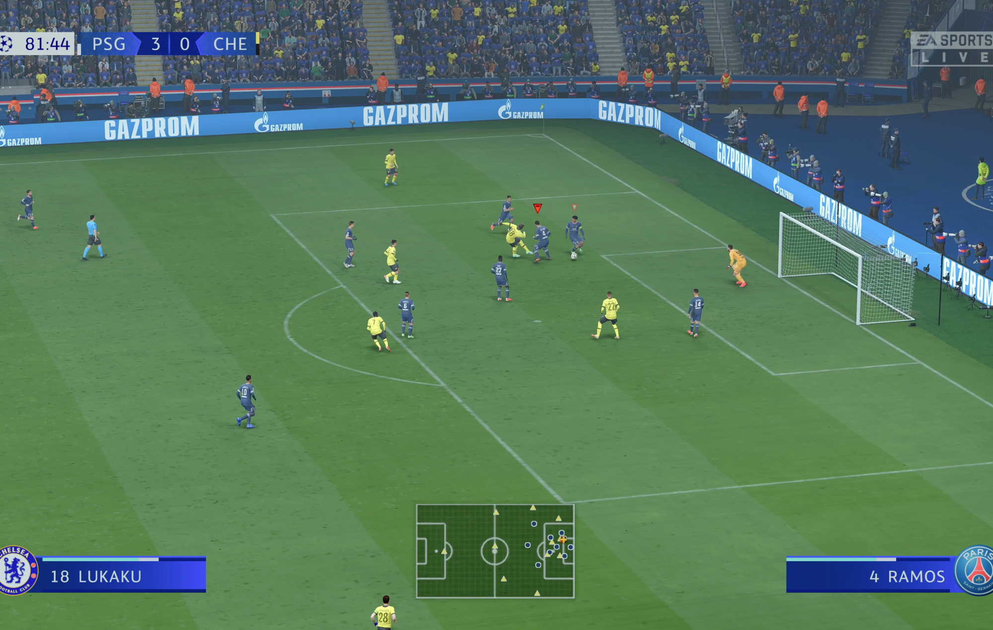 FIFA 22 - psg chelsea lukaku goal