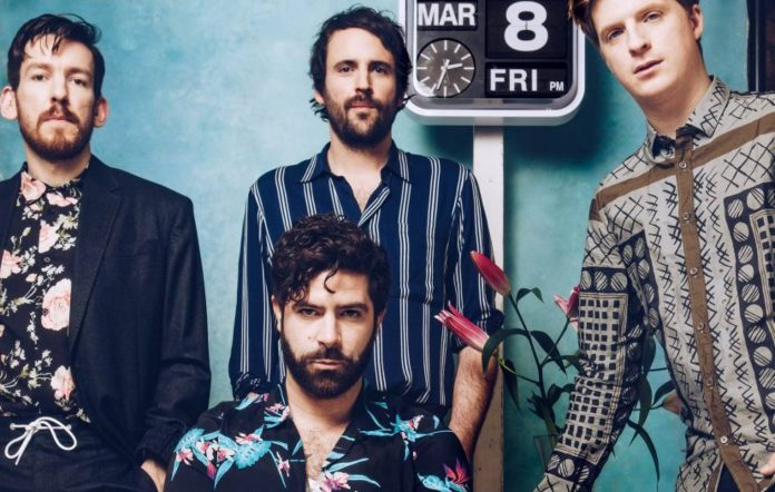 Foals' Edwin Congreave, Yannis Philippakis, Jimmy Smith and Jack Bevan, in 2019. Credit: Fiona Garden for NME