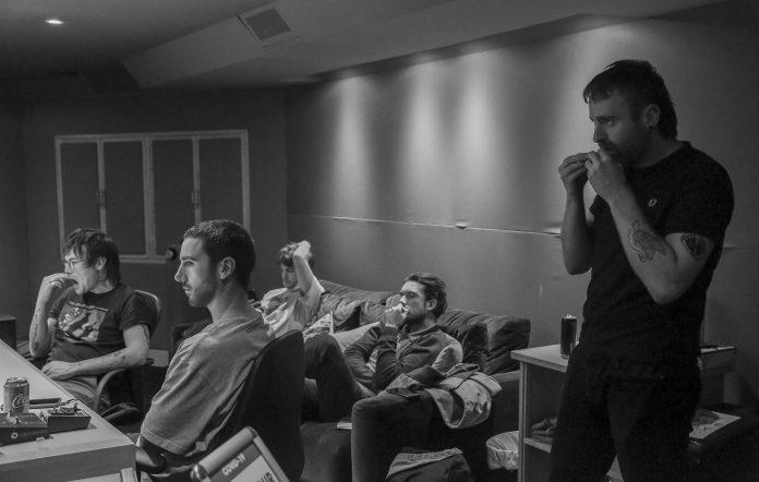 Fontaines D.C. recording their Velvet Underground cover for the new tribute album. Credit: Dominika Dronska