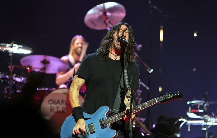 Foo Fighters perform onstage during the 2021 MTV Video Music Awards