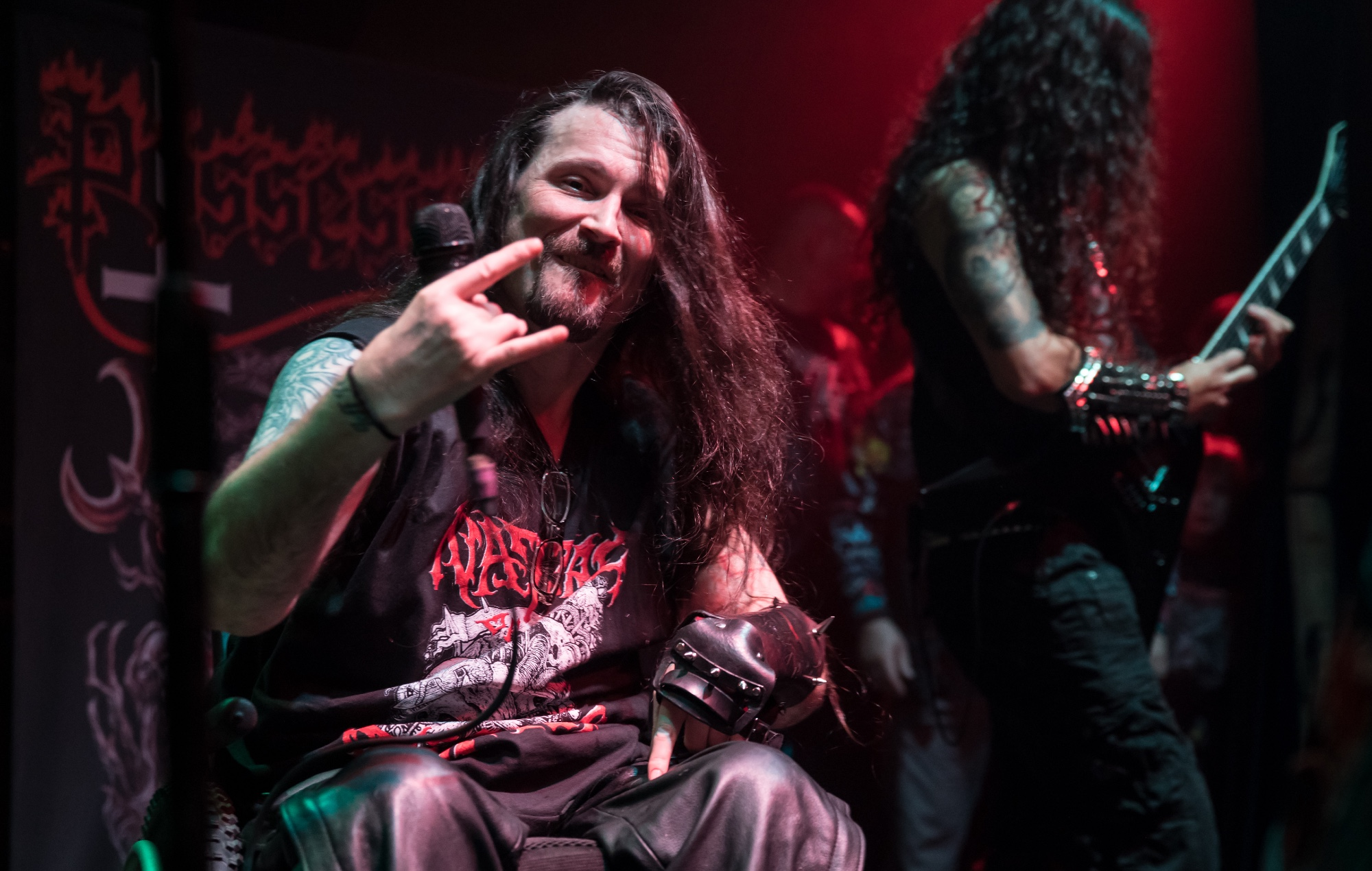 Possessed vocalist Jeff Becerra has walked for the first time in over 30 years