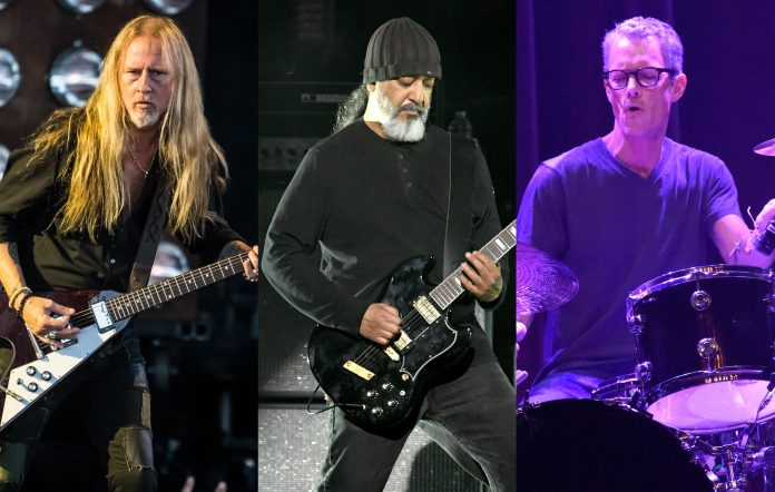 Jerry Cantrell of Alice In Chains + Kim Thayil of Soundgarden + Dave Krusen of Pearl Jam. Credits: Keith Griner/Getty Images + Kevin Winter/Getty Images + Stephen J. Cohen/Getty Images