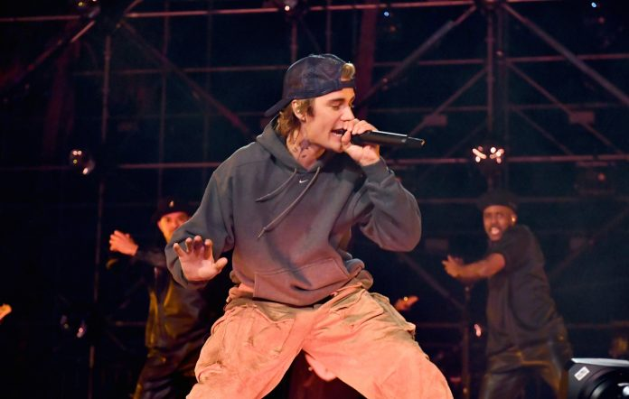 Justin Bieber performs at the Beverly Hilton