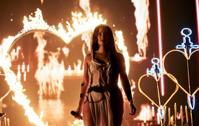 Kacey Musgraves performs onstage during the 2021 MTV Video Music Awards