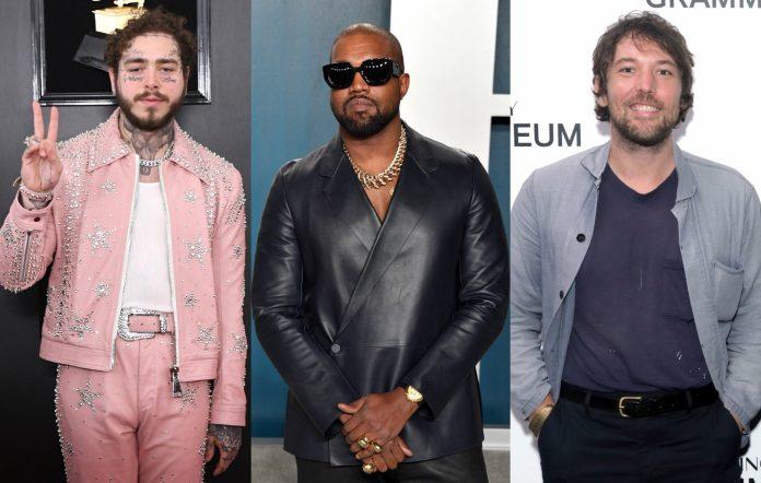 Kanye West Post Malone Fleet Foxes Robin Pecknold studio together