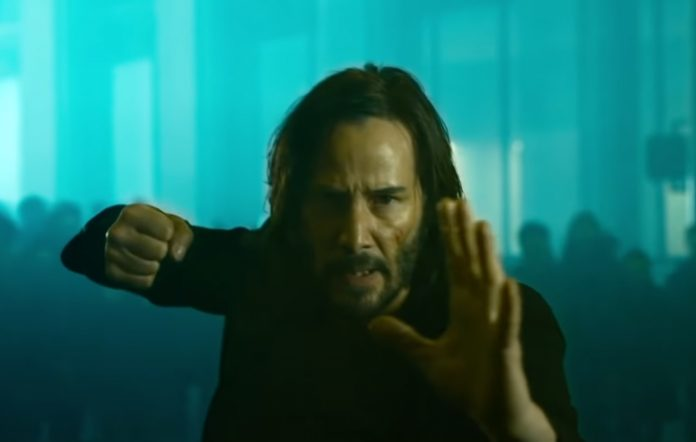 Keanu Reaves in 'The Matrix Ressurections'