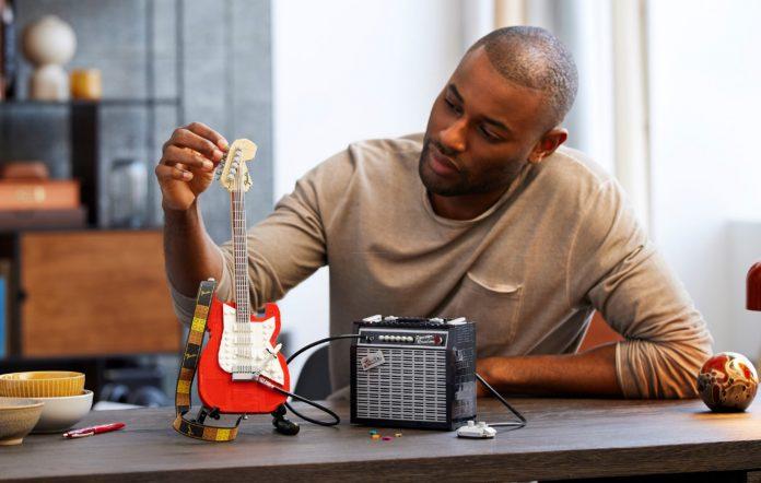 LEGO Fender Stratocaster. Credit: LEGO