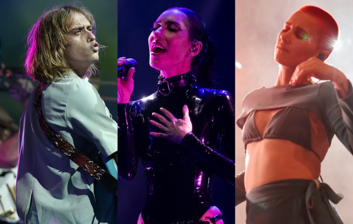 Oliver Leimbach of Lime Cordiale, Jessica Origliasso of The Veronicas and Georgia Nott of Broods. Credits: Graham Denholm/Getty Images + Matt Jelonek/WireImage + lla Hovsepian/Getty Images